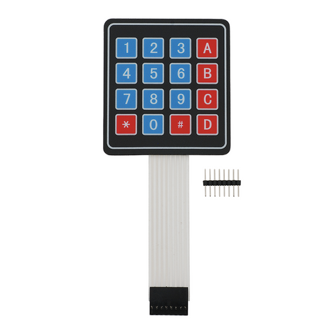 4x4 Matrix Keypad Membrane Switch - Robodo
