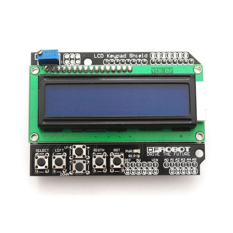 1602 LCD Board Keypad Shield Blue Backlight For Arduino Robot - Robodo
