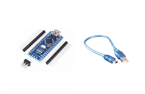 Nano V3.0 CH340 Chip with Mini USB Cable Compatible with Arduino