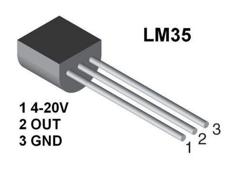 LM35 LM35DZ Precision Centigrade/Celsius Temperature Sensor