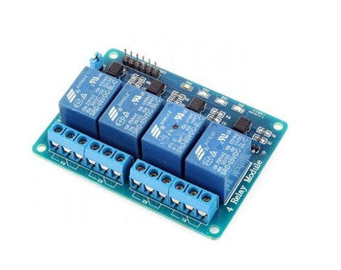 4 channel 5V relay control board module with optocoupler - Robodo