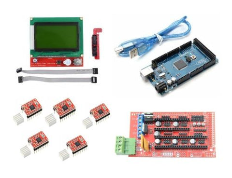 3D printer electronics kit -Mega 2560 + Ramps 1.4 + A4988 + 2004 LCD controller - Robodo