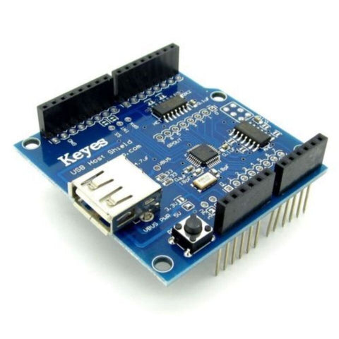 Funduino USB Host Shield Module Supports UNO MEGA for Google Android ADK - Blue