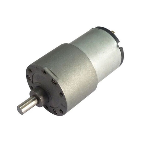 12v DC Gear, Geared Offside Motor 5 rpm (approx) High Torque - Side Shaft - Robodo