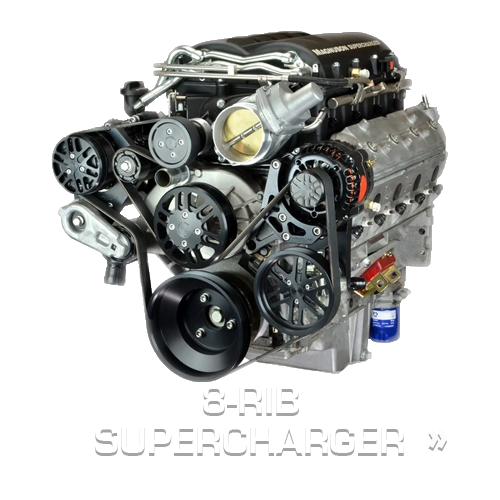 Chevy LS Supercharger Kits 8 Rib