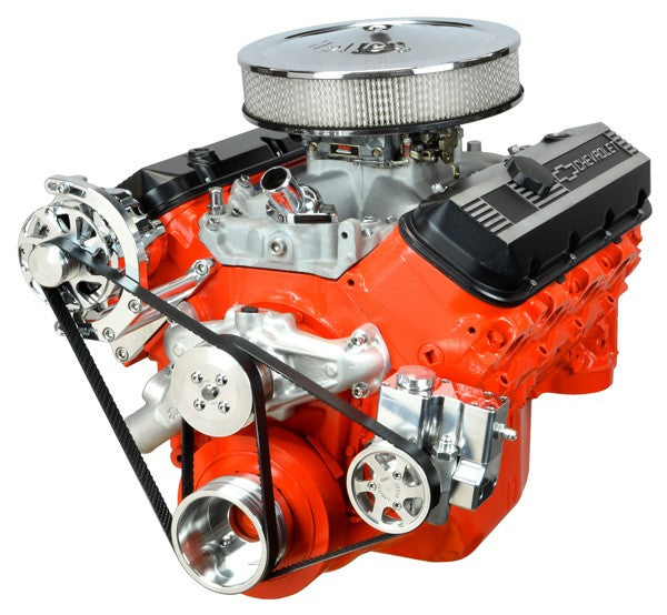 Concept One Pulley Systems: Chevy Big Block Basic Kit with Alternator and Power Steering, front view angle