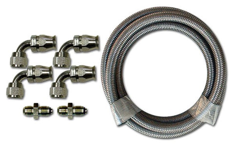 HK222 Stainless Braided Hose Kit