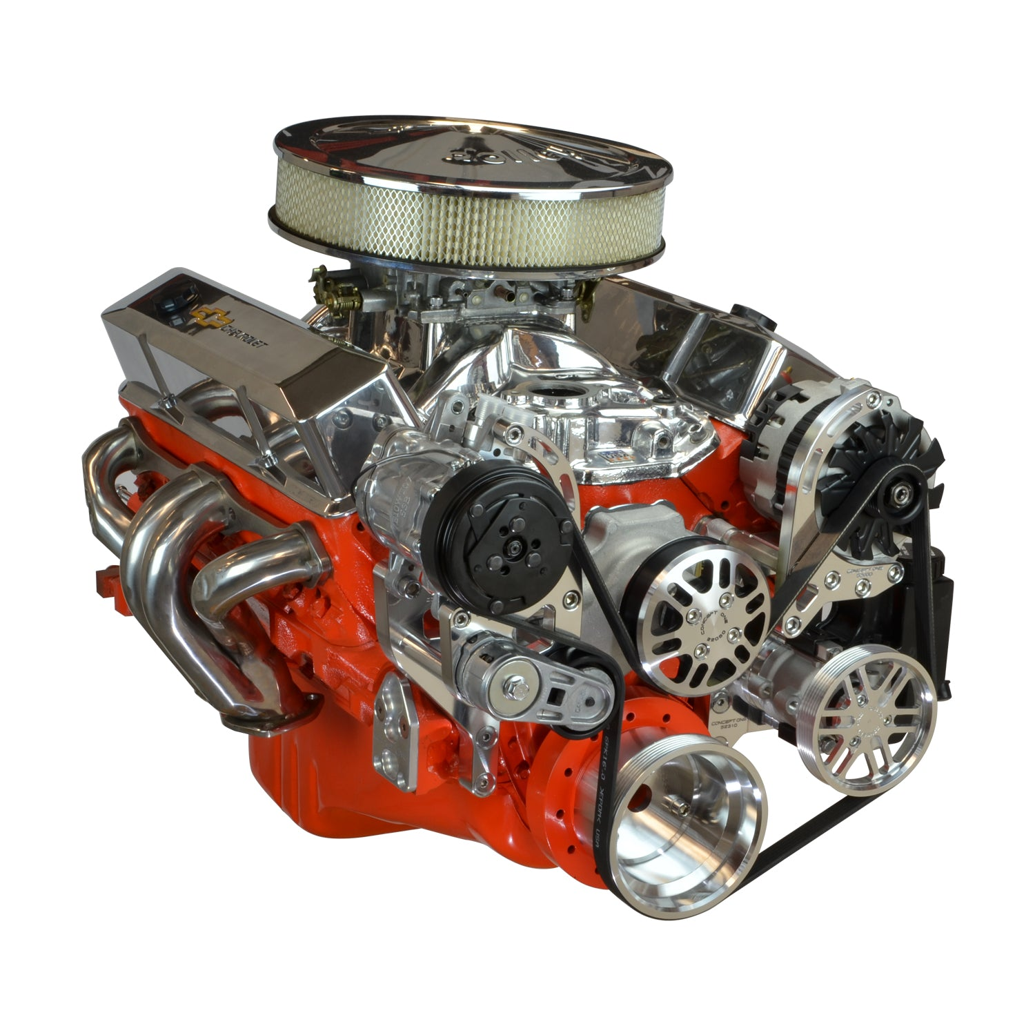 Chevy Small Block Driver Series Kit with Alternator, A/C and Power Steering