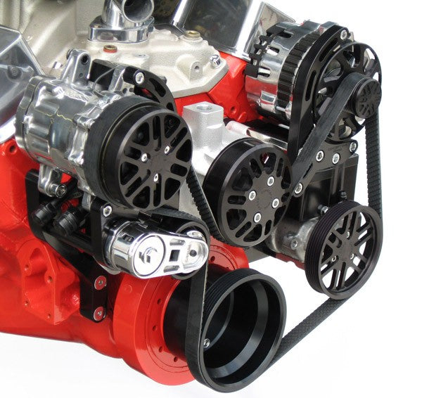 Chevy Small Block Victory Series Kit with Alternator, A/C and Power Steering