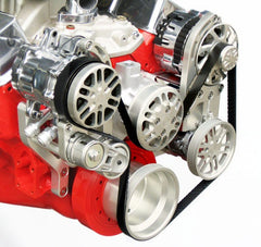 Concept One Pulley Systems: Chevy Big Block Basic Kit with Alternator and Power Steering, close up