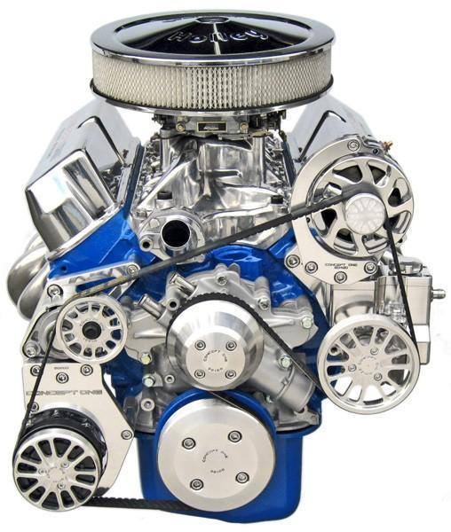 Ford Small Block Kit with Alternator, A/C, and Power Steering