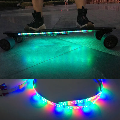How to Put LED Strip Lights Underglow on Koowheel Electric Skateboard?
