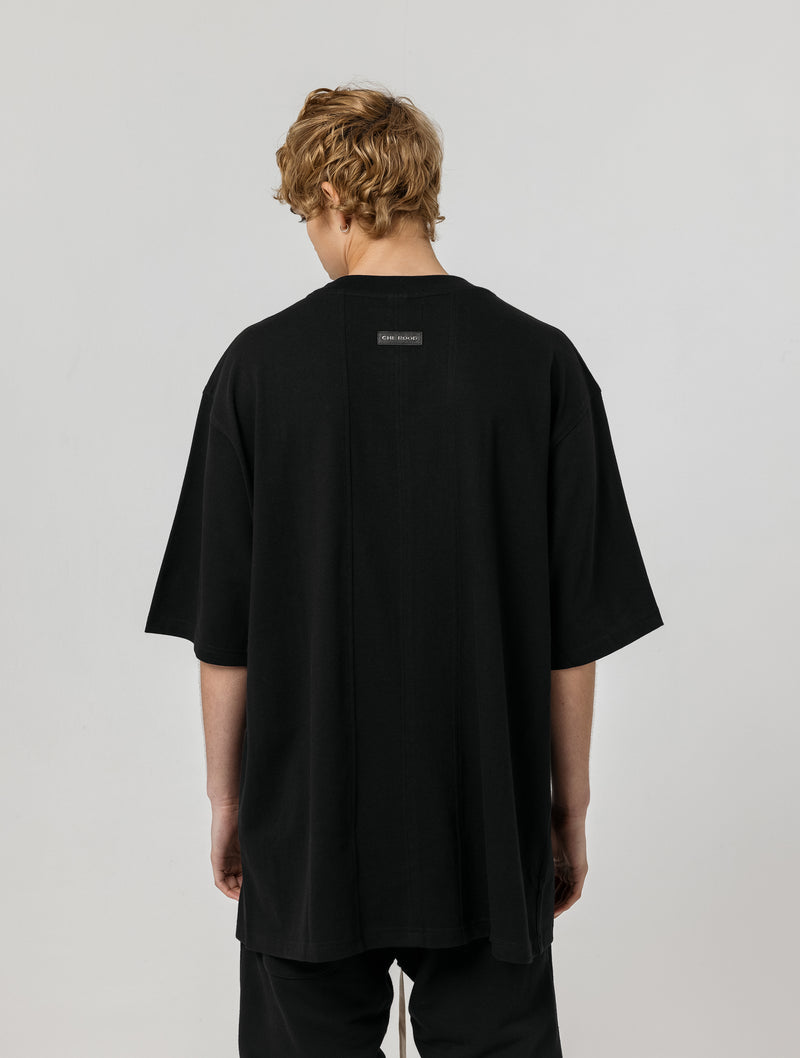 OVERSIZED BOX FIT TEE - BLACK