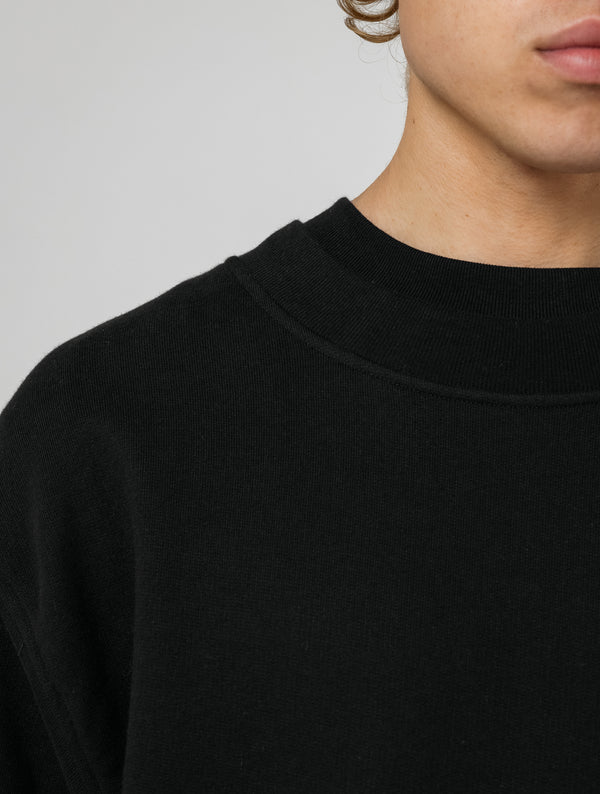 OVERSIZED HEAVY CREWNECK - BLACK
