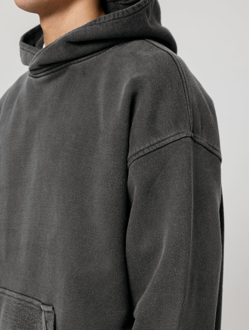 RELAXED HOODIE - WASHED BLACK