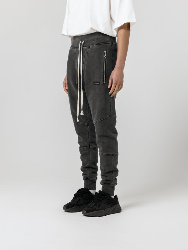 ESSENTIAL JOGGERS - WASHED BLACK