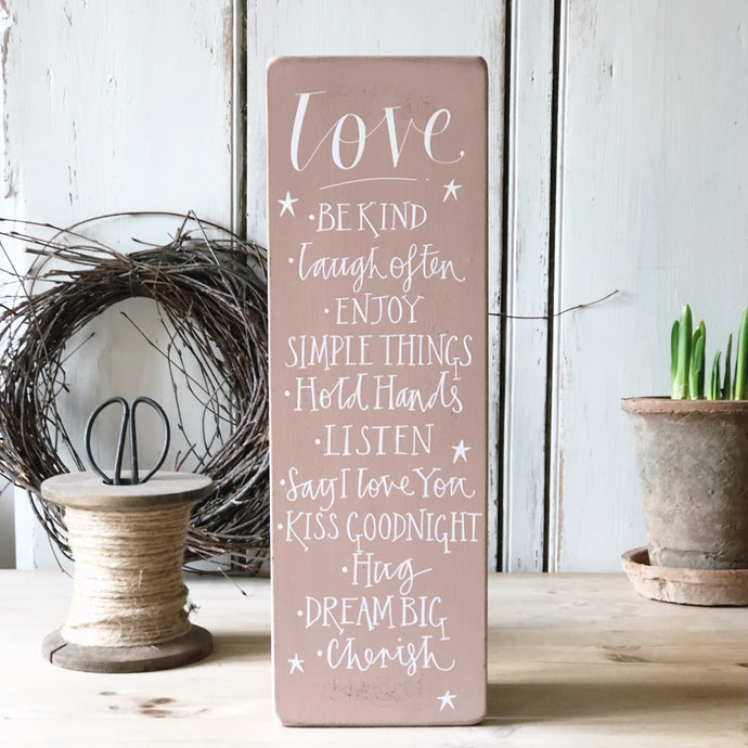 Chippy Love Signature Goose and Grey Board Vintage Pink