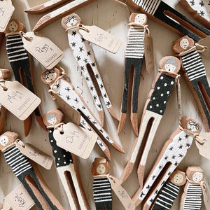 Molly Handmade Wooden Peg People