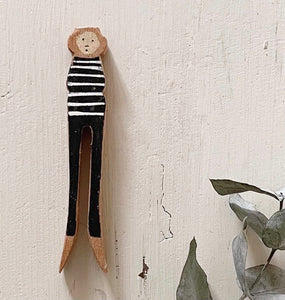 Peggy Handmade Wooden Peg People