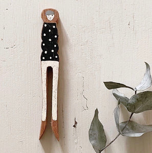 Dolly Handmade Wooden Peg People