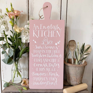 Handmade AN ENGLISH KITCHEN Signature Goose & Grey Serving Board VARIOUS COLOURS
