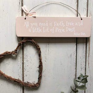Pixie Dust Hanging Sign Setting Plaster Pink