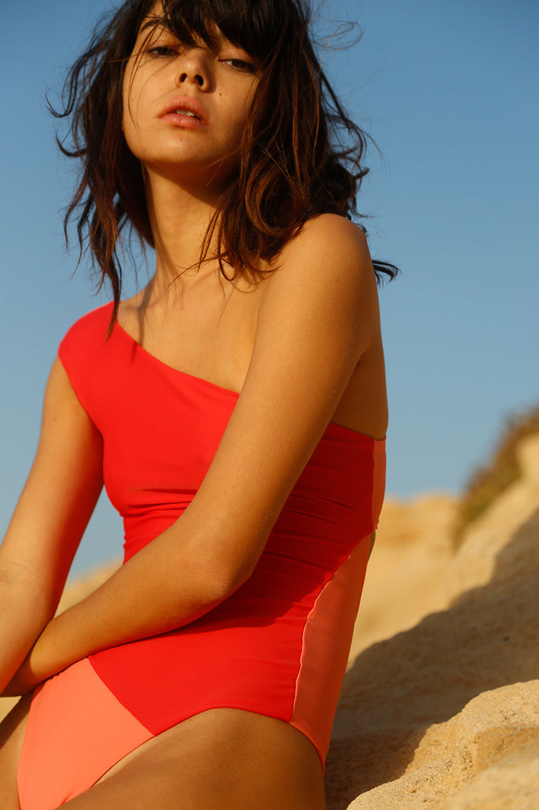 Romy Swimsuit Red Coral