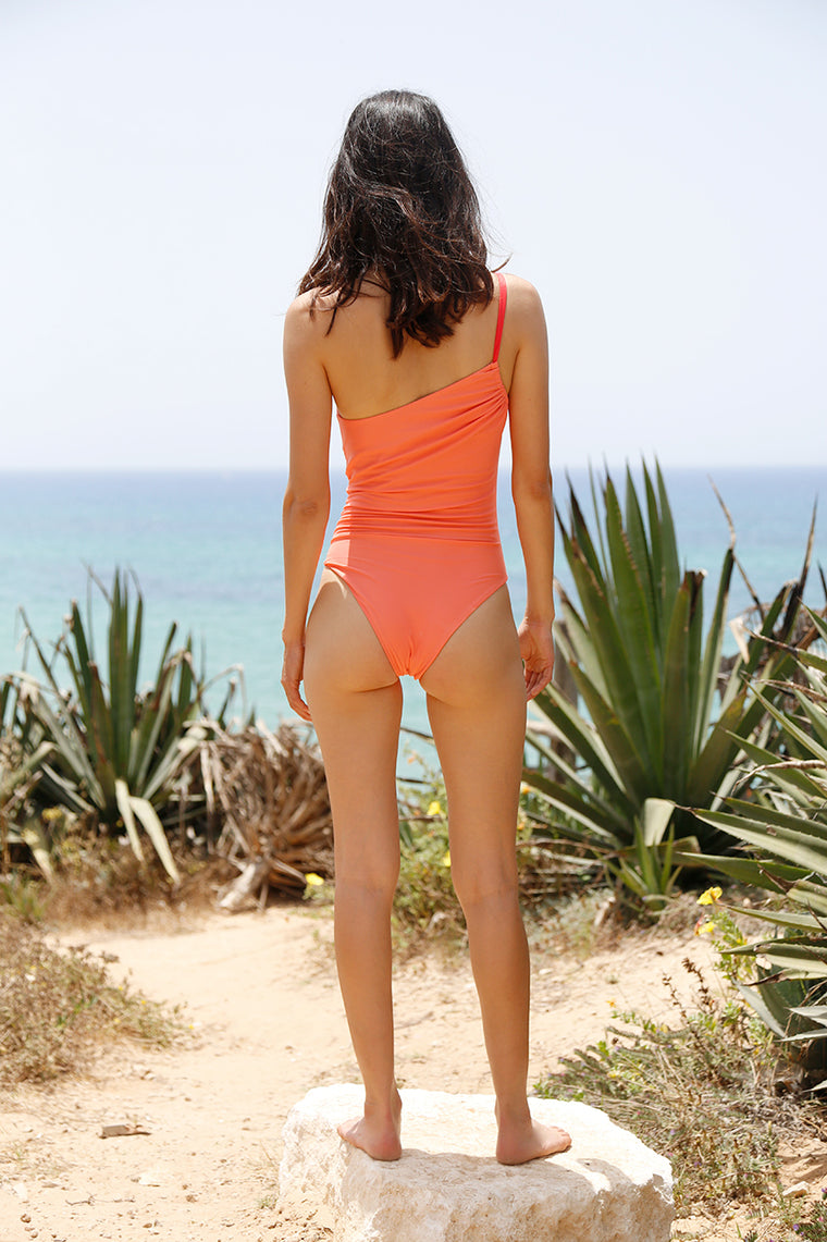 Olivia Swimsuit coral back
