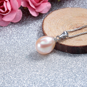 925 Sterling Silver Necklace Pendant with Genuine Freshwater Pearl