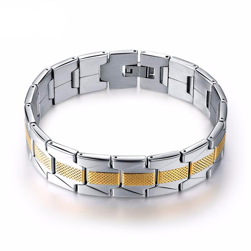 Black Chain Link Unisex Bracelets High Quality Stainless Steel 16mm Width Bracelet