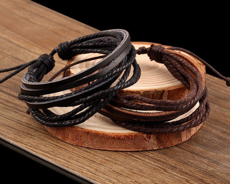 2018 NEW Handmade Endless Rope Leather Vintage Bracelet