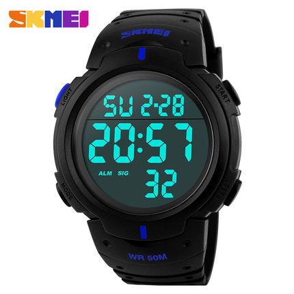 Dive 50m Digital LED Military Men's Sports Watch