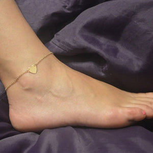 Heart Anklets For Women Leg Chain Gold/Silver Color