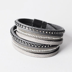 Artilady  Wrap Leather Bangle Charm Bracelet