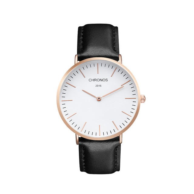 Luxury Casual Quartz Rose Gold Silver Watch