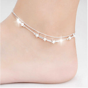 Elegant Little Star Ladies Chain Ankle Bracelet