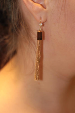 Statement Metal Tassel Long Earings