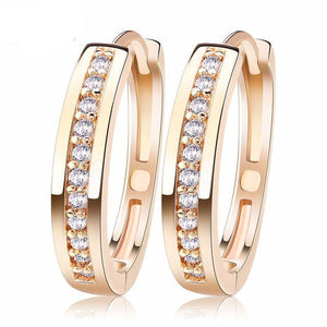 Cute Romantic Style Earrings Gold/Platinum Paved with AAA Cubic Zircon Stud