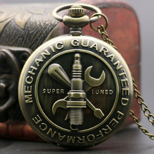 Retro Bronze Antique Mechanic Super Tuned Pocket Watch