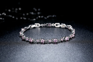 6 Colors Luxury Link  Shining AAA Cubic Zircon Bracelet