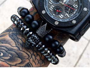 Warrior Skull Crown Titanium Steel Bracelet