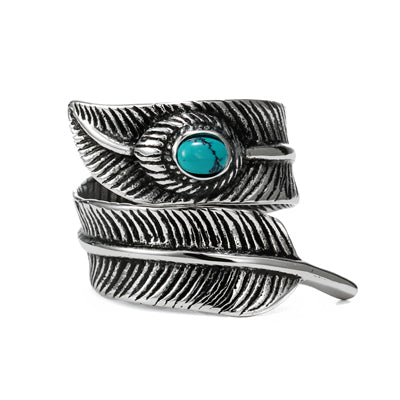 Takahashi Goro Titanium Steel Feather Ring