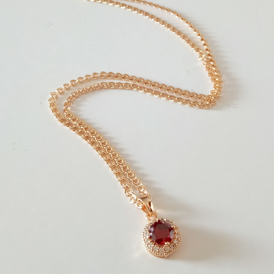 Romantic Rose Gold Color Jewelry Set  Necklace + Earring +Ring