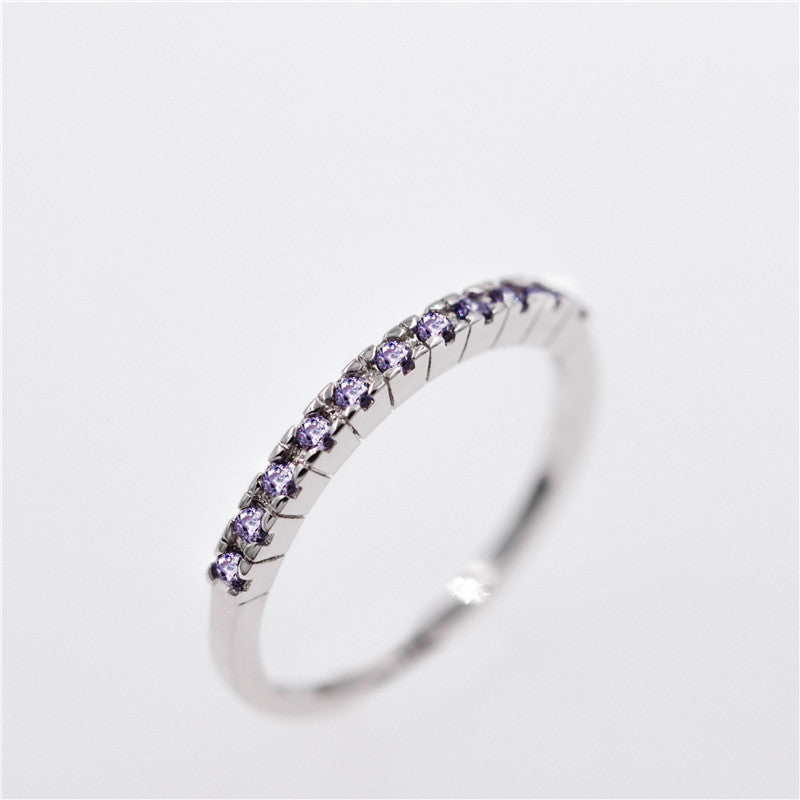 Mystique Clear/Purple/Red Charm Ring