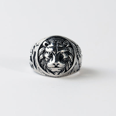 Stainless Steel Lion Head Gold/Silver Color Vintage Men Ring