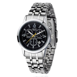 Stainless Steel Strap Analog Quartz Wrist Luxury Men's Watch