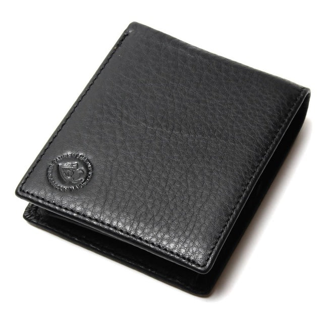 Excellent Genuine Cow Leather Black Men Wallet