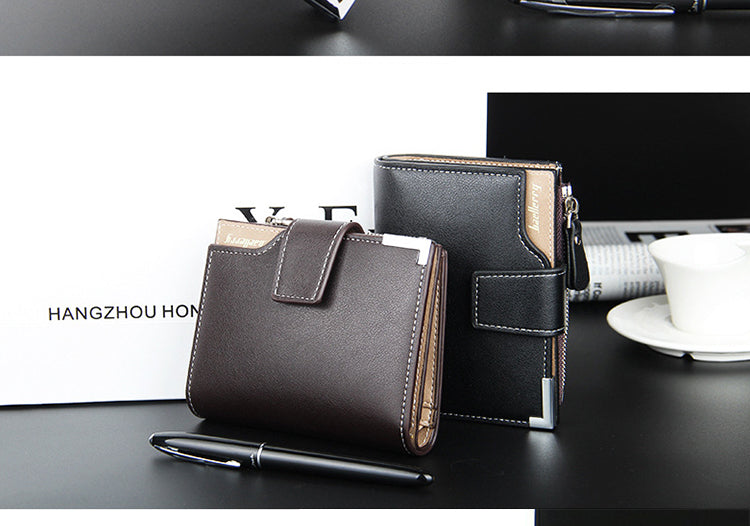 Male Clutch Card Holder Men Leather Portmann Wallet