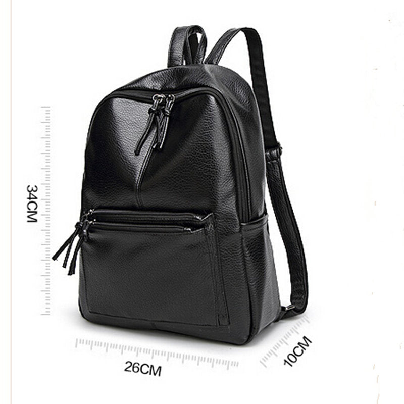 Women Leather Travel Backpack