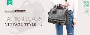 Luxury PU Leather Women  Handbag
